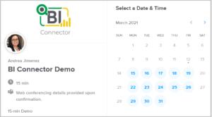 Schedule BI Connector Demo